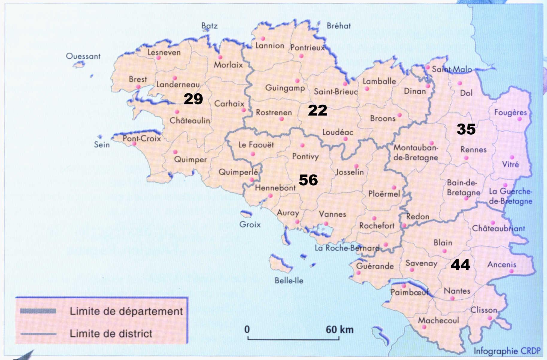 Carte Bretagne Avec Km.Carte Bretagne Le Blog De Anne